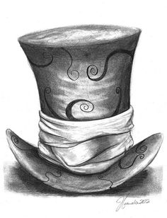 Omg the mad hatters hat from Alice In Wonderland. Imma draw it but just use the outline, i wanna zentangle the crap out of it
