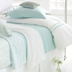 Pine Cone Hill Ruched Sky King Duvet Cover - Final Sale @Layla Grayce