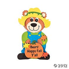 """Beary Happy Fall Y'All"""" Magnet Craft Kit $5.25"""