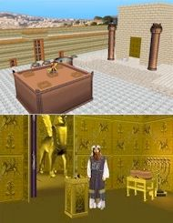 This interactive 3D model renders Solomon's Temple. It is carefully reconstructed even down to the minutest detail.