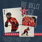 hockey scrapbook page