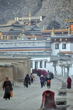 Looking down to Labrang, one of the largest monasteries in the Amdo region.