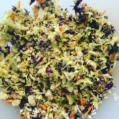 """""""Fooding after a 10K row.  Red cabbage Green cabbage  Shredded carrot  2 eggs  2 bacon  Leftover turkey  #feedme #yum #allthefood #wod #goals #weightloss…"""""""