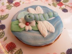At our Pond Power Family Event we were designing our very own special dragonfly biscuits!