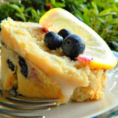 Sugar Free Blueberry Lemon Cake - make with GF flour- SFree and GFree...AMAZING!!