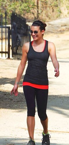 Lea Michele goes for a hike in LA