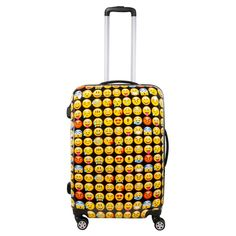 FUL Emoji Hardside Upright Spinner Upright Luggage (24),