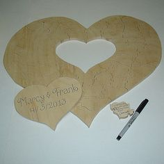 Custom Wedding Guest Book Puzzle  Heart Unfinished  by PuzzledOne, $45.00