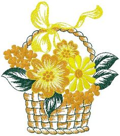 basket of flowers embroidery58.6 * 98.2 mm3.37 * 3.87 inch11276 Stitchesshare this design on Facebook or Twitter or Google  to see the download Link