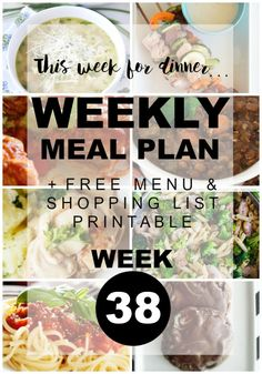Weekly Menu Plan Week 38 - Stay organized and save money! www.thirtyhandmadedays.com