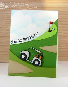 Paper Smooches: It's a PS Patrol day! (This is the cutest golf card I think I've ever seen!!)
