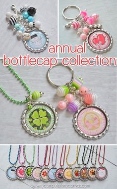 Bottle Cap Images for every holiday and month - I love the Easter and Shamrock one for St. Patrick's Day! #mycomputerismycanvas