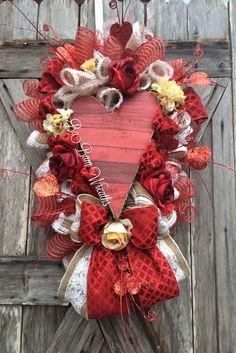 Valentine Wreath Valentine Swag Valentine Decor by BaBamWreaths