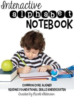 Interactive Alphabet Notebook- perfect for all year use! Incorporates alphabet, open ended response questions, writing, and crafts all into one notebook!