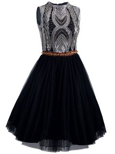 Vijiv 1920s Short Prom Dresses A Line High Neck Organza Beaded Homecoming Dress ** Wow! I love this. Check it out now! : Dresses