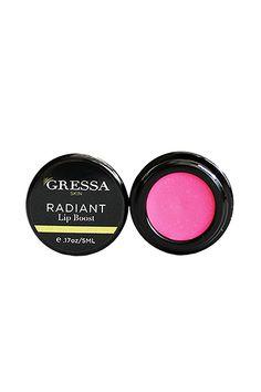Gressa Lip Boost in Radiant, $26 #vegan #veganmakeup #veganlipstick