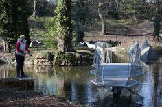 Tonkin Liu creates swing bridge to access Crystal Palace's Dinosaur Island