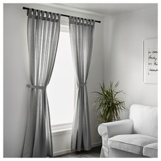 IKEA LENDA curtains with tie-backs