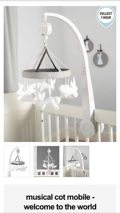 Mamas and papas nursery accessories rabbit mobile More