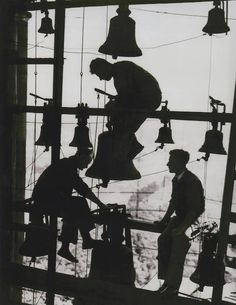 Maintaining the bells of Potsdam, Germany, 1930, photographer unknown