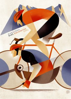 Maratona dles Dolomites by Riccardo Guasco art 60 Inspiring Designs in the Style of Art Deco Travel Posters Art Deco Illustration, Digital Illustration, Retro Poster, Poster Vintage, Pinturas Art Deco, Art Deco Paintings, Art Deco Art, Art Deco Design, Diy Design