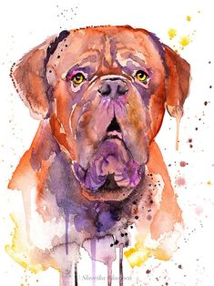 """The breed is commonly referred to as the """"Mastiff"""". Also known as the English Mastiff this giant dog breed gets known for its splendid, good natu Giant Dog Breeds, Giant Dogs, Large Dog Breeds, Mastiff Breeds, Mastiff Dogs, Brindle Mastiff, Cãezinhos Bulldog, Caricature, Neopolitan Mastiff"""