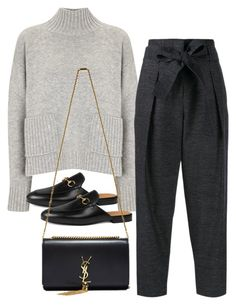 """""""Untitled #3329"""" by bubbles-wardrobe ❤ liked on Polyvore featuring Frame Denim, 3.1 Phillip Lim, Gucci, Yves Saint Laurent, women's clothing, women, female, woman, misses and juniors"""
