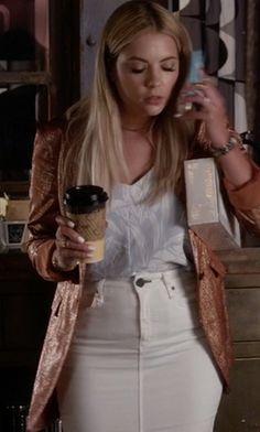 McGuire Marino Denim Pencil Skirt as seen on Hanna Marin in Pretty Little Liars | TheTake.com