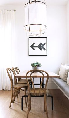 modern dining with thonet chairs / sfgirlbybay