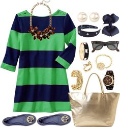 love the blue and green stripes