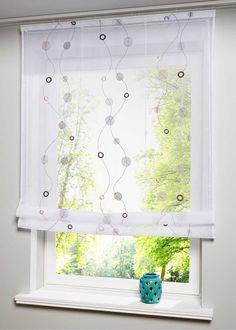raffrollo karin scherli mit sen und haken stein gardinen pinterest raffrollo haken. Black Bedroom Furniture Sets. Home Design Ideas