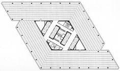 I.M. Pei, Patriot Tower (One Dallas Center), Floor Plan, Dallas, Texas, 1979