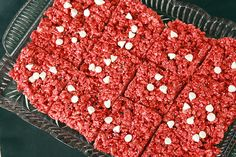 valentines day red velvet rice krispie treats