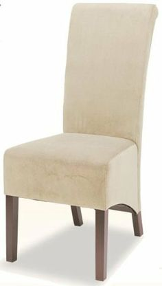 rolled back parson dining chair in tan microfiber set of 2 by cozystreet - Light Blue Accent Chair