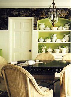 chartreuse inside cupboard Splendid Sass: MARY MCDONALD ~ DESIGN PERFECTION