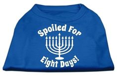 Spoiled for 8 Days Screenprint Dog Shirt Blue XL (16)