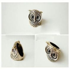 Gold Size 6 - 7 owl ring * 5 aviliable * Very cute and bold looking Jewelry Rings