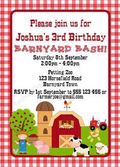 "Barnyard Party Invitation / Farm Party Invitation    Mother Duck Said: ""Lets…"