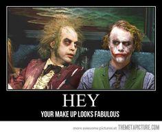 Beetlejuice meets the Joker…
