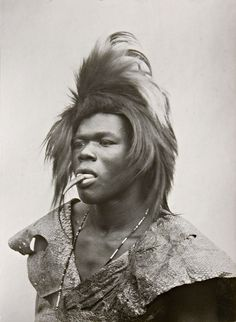 Africa | Tsonga youth, a Khoka or snake dancer, Portuguese East Africa (now Mozambique).  1933 | ©A.M Duggan-Cronin