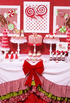 Candy themed Christmas Party