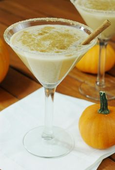 Pumpkin Spice Martini ~ put the fabulous flavors of pumpkin and spice in your fall cocktail.   www.thekitchenismyplayground.com