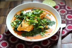 Poached Halibut in Thai Coconut Curry Broth - Alaska from Scratch