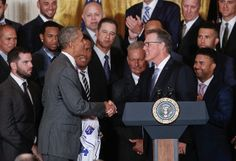 President Barack Obama welcomes the World Champion Kansas City Royals to the White House on Thursday.