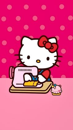 Find images and videos about pink, wallpaper and hello kitty on we heart it - the app to get lost in what you love. Sanrio Hello Kitty, Hello Kitty Art, Hello Kitty My Melody, Hello Kitty Coloring, Hello Kitty Tattoos, Hello Kitty Birthday, Kitty Cam, Hello Kitty Pictures, Kitty Images