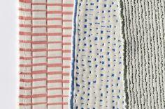 Textilien mit modernen Strukturen und Porzellan-Optik.