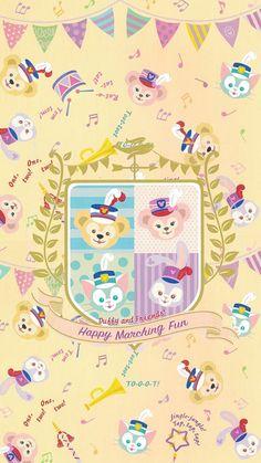 Disney Phone Wallpaper, Friends Wallpaper, Bear Wallpaper, Kawaii Wallpaper, Iphone Wallpaper, Duffy The Disney Bear, Disney Love, Disney Art, Disney Pixar