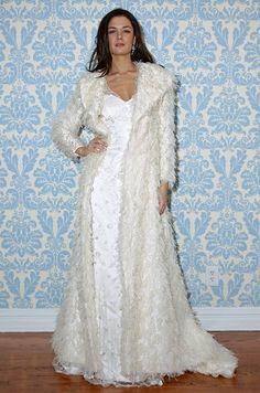 Modern Trousseau wedding dress and jacket, Fall 2012