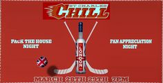 London Vodka proudly sponsors the last chance to see the St. Charles Chill in action, which happens the final weekend of March as the inaugural season comes to