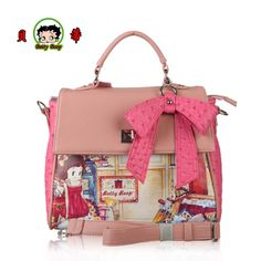 2014 new fashion betty boop  vintage  Women's handbags messenger bags famous brand & Genuine leather bags free shipping  A3100-2 US $41.80